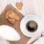 coffee cup heart shaped gingerbread cookies and milk pitcher stock photo © karandaev