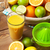 citrus fruits and glass of juice stock photo © karandaev