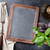 blackboard for your text and garden herbs stock photo © karandaev
