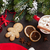Christmas tree and hot chocolate with marshmallow stock photo © karandaev