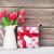 тюльпаны · интерьер · стекла · ваза · красочный · цветы - Сток-фото © karandaev