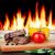 salade · groenten · brand · geïsoleerd · achtergrond - stockfoto © karandaev