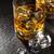 gafas · whisky · hielo · negro · piedra · mesa - foto stock © karandaev