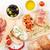 ブルスケッタ · チーズ · トマト · プロシュート · まな板 · 食品 - ストックフォト © karandaev