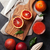 portocaliu · frunze · piatră · frunze · de · arţar · curent - imagine de stoc © karandaev