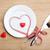 valentin · nap · szív · alakú · szalag · fehér · fa · asztal - stock fotó © karandaev