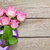 garden pink roses bouquet over wooden table stock photo © karandaev