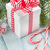christmas gift box candy cane and fir tree stock photo © karandaev