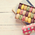 colorful macaroons in a gift box stock photo © karandaev