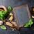 pesto · molho · ingredientes · italiano · vintage · saúde - foto stock © karandaev