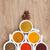 specerijen · houten · tafel · Rood · kleur · peper - stockfoto © karandaev