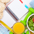 cinta · métrica · alimentos · saludables · fitness · salud · aislado · blanco - foto stock © karandaev