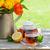 vetro · Cup · tè · fiore · legno · sfondo - foto d'archivio © karandaev