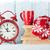 christmas alarm clock and hot chocolate stock photo © karandaev