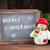 christmas chalkboard snowman and tree stock photo © karandaev