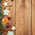christmas wooden background with snow fir tree spices and ginge stock photo © karandaev