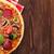 Italiaans · pizza · peperoni · tomaten · olijven · basilicum - stockfoto © karandaev