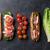 sandwich with salad prosciutto and mozzarella stock photo © karandaev