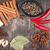 specerijen · kruiden · houten · kom · voedsel · blad - stockfoto © karandaev