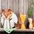 kitchen cooking utensils and spices on shelf stock photo © karandaev