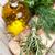Fresh garden herbs and olive oil stock photo © karandaev