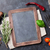 chalkboard surrounded by herbs and spices stock photo © karandaev