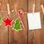 hó · fenyőfa · fényképkeret · karácsony · dekoráció · kötél - stock fotó © karandaev