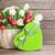 gyönyörű · színes · virágcsokor · fából · készült · kosár · autó - stock fotó © karandaev