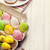 easter with yellow tulips colorful eggs and traditional cakes stock photo © karandaev