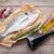 fresco · peixe · cozinhar · temperos · mesa · de · madeira - foto stock © karandaev