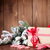 christmas gift box and santa hat stock photo © karandaev