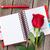 kırmızı · gül · mektup · güzel · şampanya · çiçek - stok fotoğraf © karandaev
