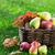 outono · comida · frutas · caixa · colorido · folhas - foto stock © karandaev
