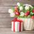 Подарочные · корзины · подарок · цветы · изолированный · белый - Сток-фото © karandaev
