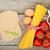 macarrão · tomates · ovos · temperos · mesa · de · madeira · fundo - foto stock © karandaev