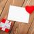 美しい · 赤 · 弓 · ブランクカード · グリーティングカード · 休日 - ストックフォト © karandaev