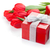 fresh red tulips with gift boxes stock photo © karandaev