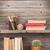 livres · blanche · tablettes · coloré · livre · bois - photo stock © karandaev