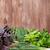 fresh garden herbs on wooden table stock photo © karandaev