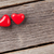 two candy hearts over wood stock photo © karandaev