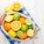 citrus fruits in basket oranges limes and lemons stock photo © karandaev
