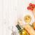 fehérbor · sajt · kenyér · fehér · fa · asztal · felső - stock fotó © karandaev