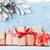piros · dobozok · fa · köteg · ajándékdobozok · forma - stock fotó © karandaev