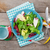plate with fresh salad measure tape cup knife and fork diet stock photo © karandaev