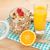 ontbijt · müsli · bessen · sinaasappelsap · geïsoleerd · witte - stockfoto © karandaev