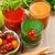turuncu · havuç · iki · yüzlü · taze · cam · içmek - stok fotoğraf © karandaev
