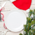 empty plate silverware and christmas tree stock photo © karandaev