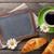 kávéscsésze · fehér · virágok · feketekávé · csésze · fekete · textúra - stock fotó © karandaev