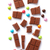 darabok · tej · csokoládé · izolált · fehér · háttér - stock fotó © karandaev