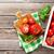 tomates · mozzarella · verde · ensalada · hojas - foto stock © karandaev